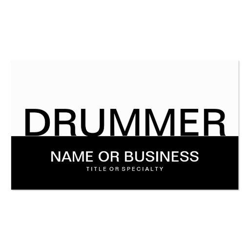 Bold Drummer Business Card