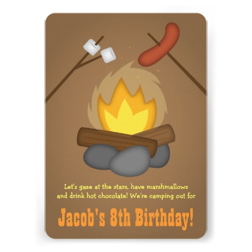 Personalized Bonfire Party Invitations