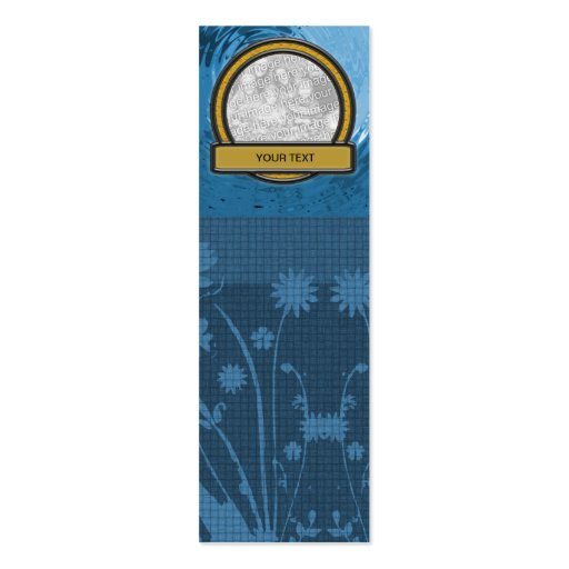 double sided bookmark template - bookmark add your photo template double sided mini