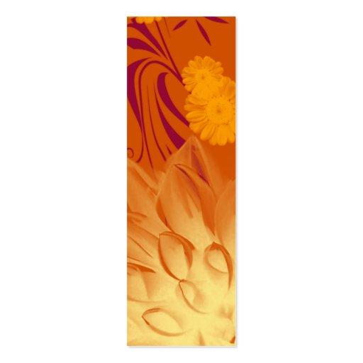 Bookmark orange yellow flowers custom template double for Double sided bookmark template
