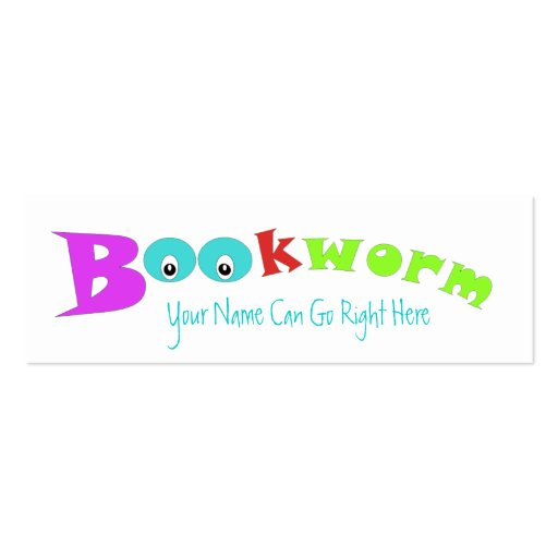 bookworm bookmark template bookworm bookmark to customize double sided mini business