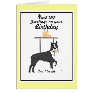 Dog Eating Birthday Cake Cards Dog Eating Birthday Cake