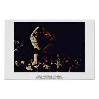 An interpretation of both members of this club a painting by george bellows