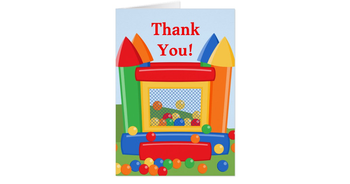 Thank You House: Bounce House Birthday Thank You Card