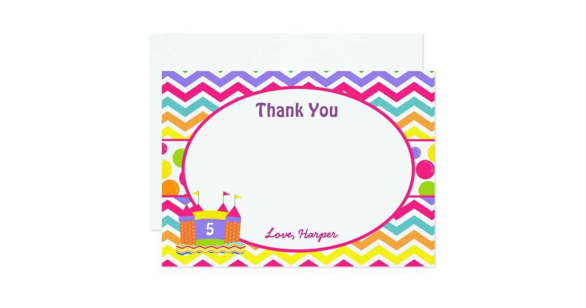 Thank You House: Bounce House Thank You Cards