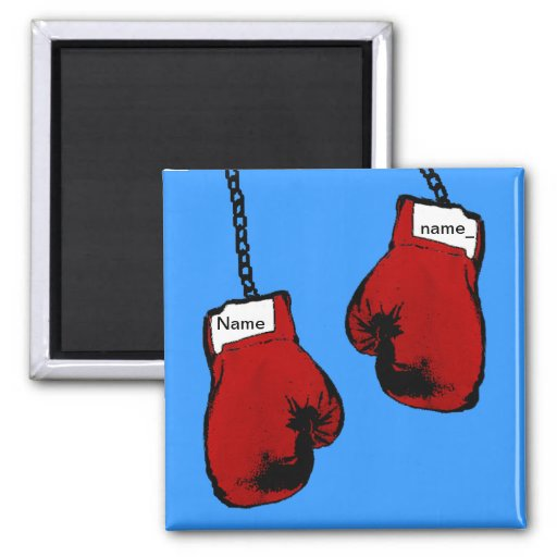 Boxing Gloves - Custom Name Fridge Magnet