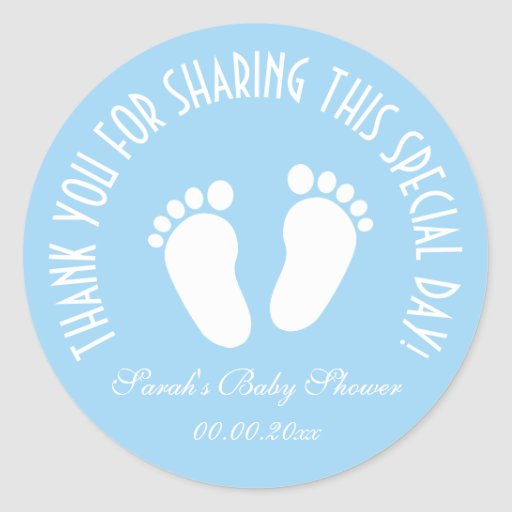 Boy Baby Shower Party Favor Thank You Stickers Zazzle