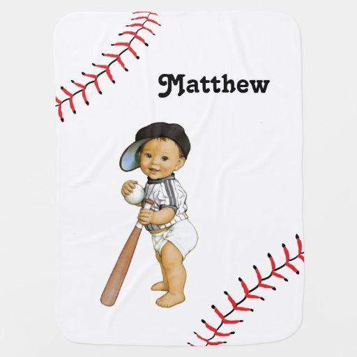 Boy S Baseball Baby Blanket Zazzle