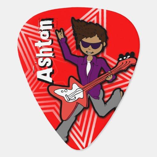 boys rock star kids personalized red guitar pick zazzle. Black Bedroom Furniture Sets. Home Design Ideas