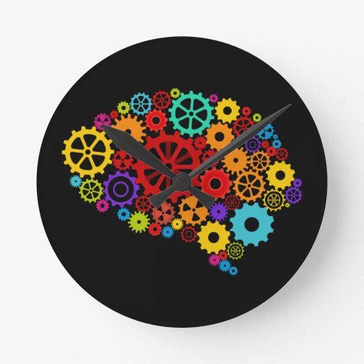 Brain Gears Wall Clock Zazzle