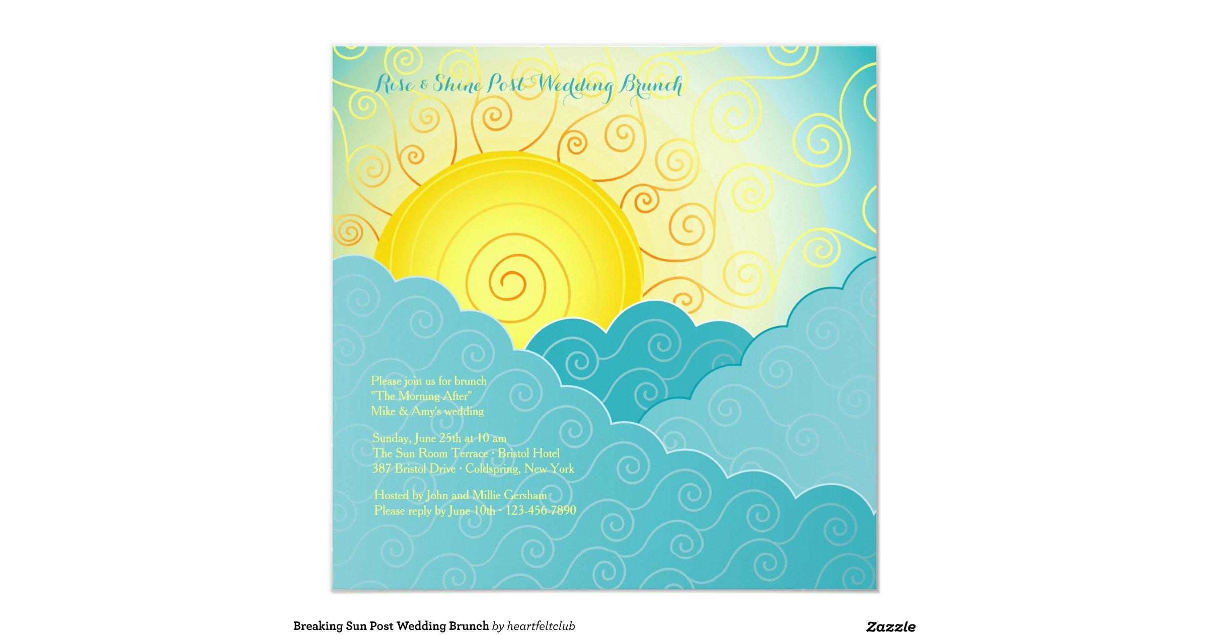 Post Wedding Brunch Invitation Wording: Breaking_sun_post_wedding_brunch_invitation