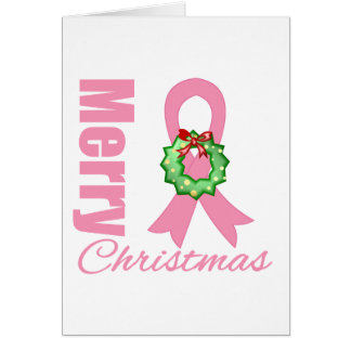 Breast Cancer Christmas Greeting Cards   Zazzle