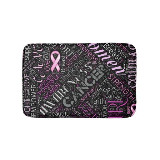 Breast Cancer Awareness Word Cloud Id261 Bath Mat Zazzle