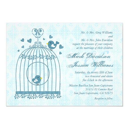 Wedding Invitations Birdcage: Bridal Bird Cage Wedding Invitation