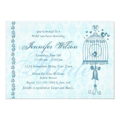 Wedding Invitations Birdcage: Bridal Birdcage Wedding Shower Invitation