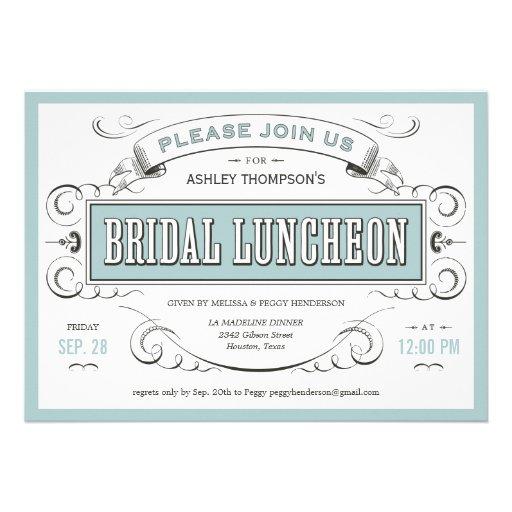 Personalized Ladies Tea Party Invitations