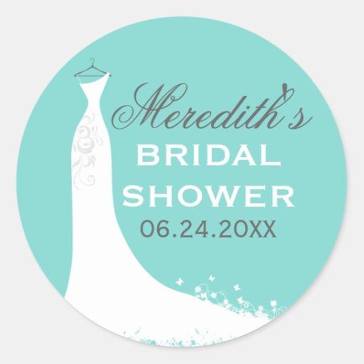 Bridal Shower Favor Sticker