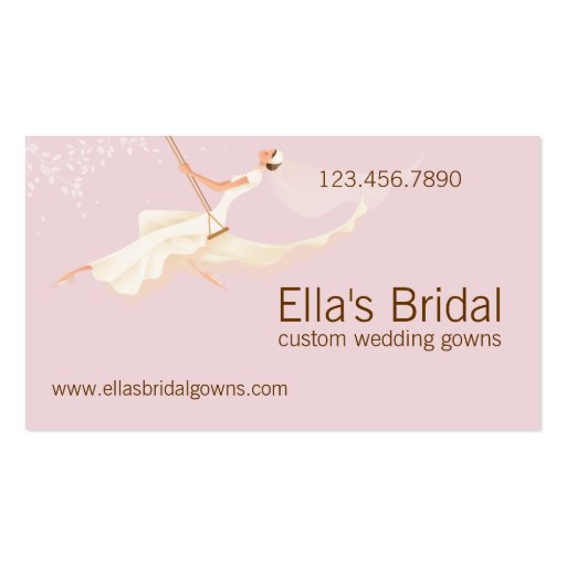 Bridal Wedding Gown Business Card