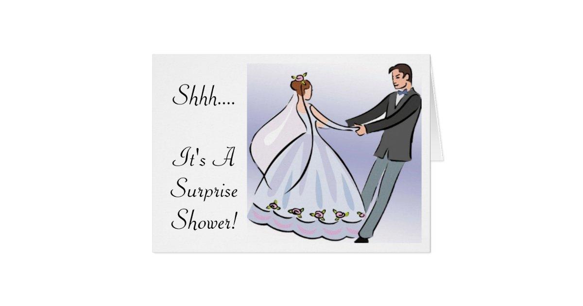 Surprise Wedding Invitation Wording: Bridal/Wedding Shower Invitation-It's A Surprise Card