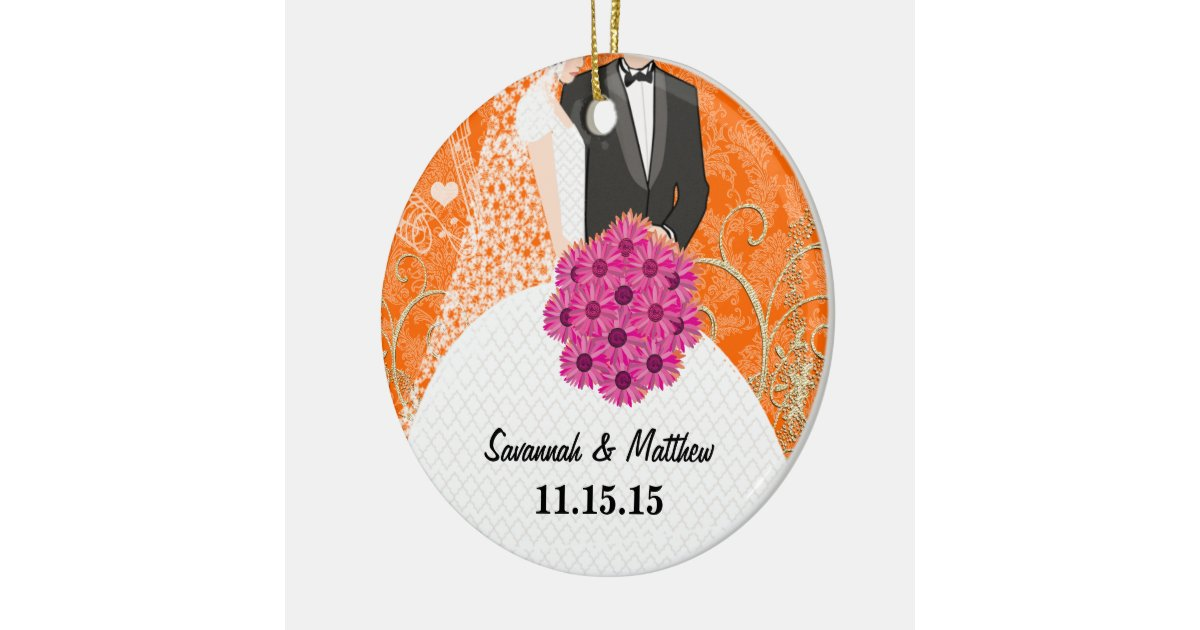 Bride and Groom Christmas Ornament | Zazzle