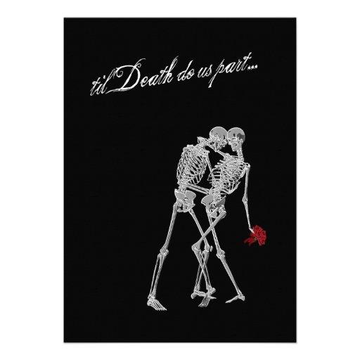 Bride and Groom Skeletons Goth Wedding 5x7 Paper ...