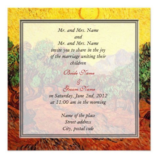 """When Should Wedding Invitations Be Ordered: Bride And Groom's Parents Wedding Invitation 5.25"""" Square"""