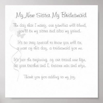 Wedding Gift Poem On Poems Sister For List