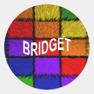 Bridget Stickers | Zazzle