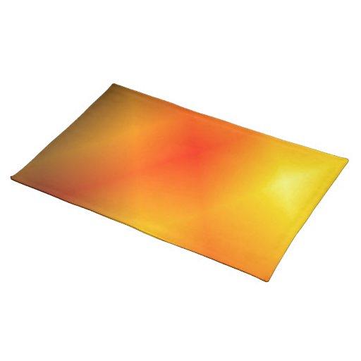 What Color Compliments Burnt Orange: Bright Burnt Orange Placemat