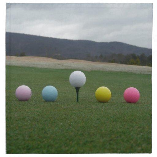 bright colored Golf Balls on a mountain Napkin   Zazzle