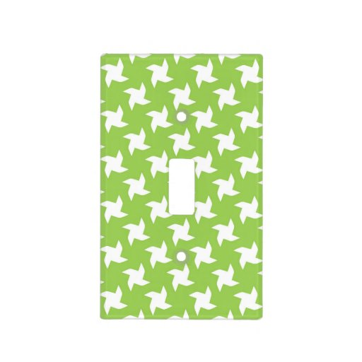 Bright Green and White Pinwheel Pattern Light Switch Cover ...