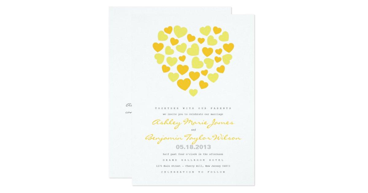 Bright Wedding Invitations: Bright Hearts Wedding Invitation