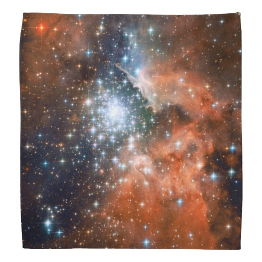Bright Orange & Blue Galaxy Trendy Nebula Bandanas | Zazzle