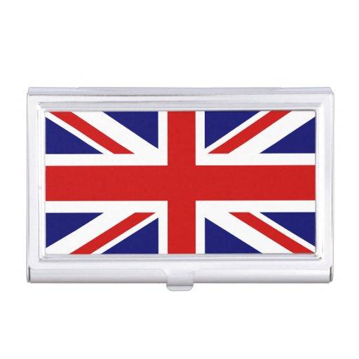 British Flag Business Card Holder Union Jack Zazzle