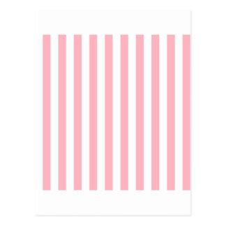 White And Light Pink Stripes Postcards   Zazzle