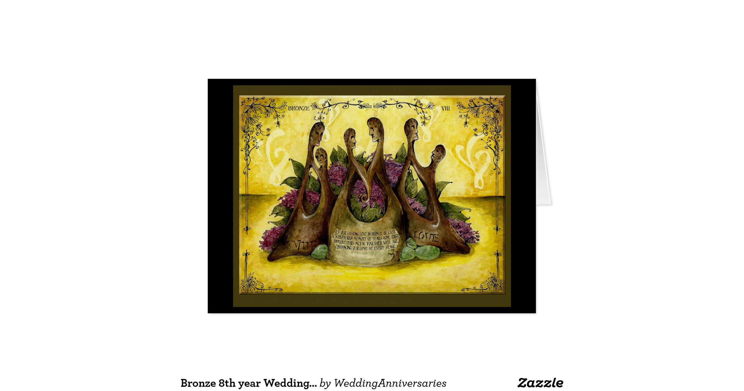 8 Year Wedding Anniversary Traditional Gift: Bronze_8th_year_wedding_anniversary_gift_card