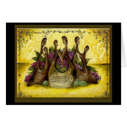 Gift Ideas For 8th Wedding Anniversary: Bronze 8th Year Wedding Anniversary Gift Card