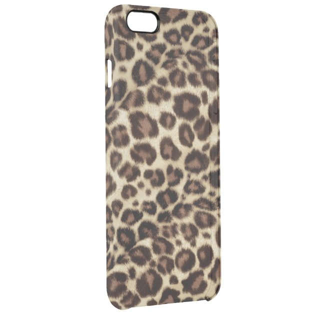 new arrival 581e7 eb579 Brown Leopard Print Pattern Classic Girly Stylish Uncommon Clearly™  Deflector IPhone 6 Plus Case