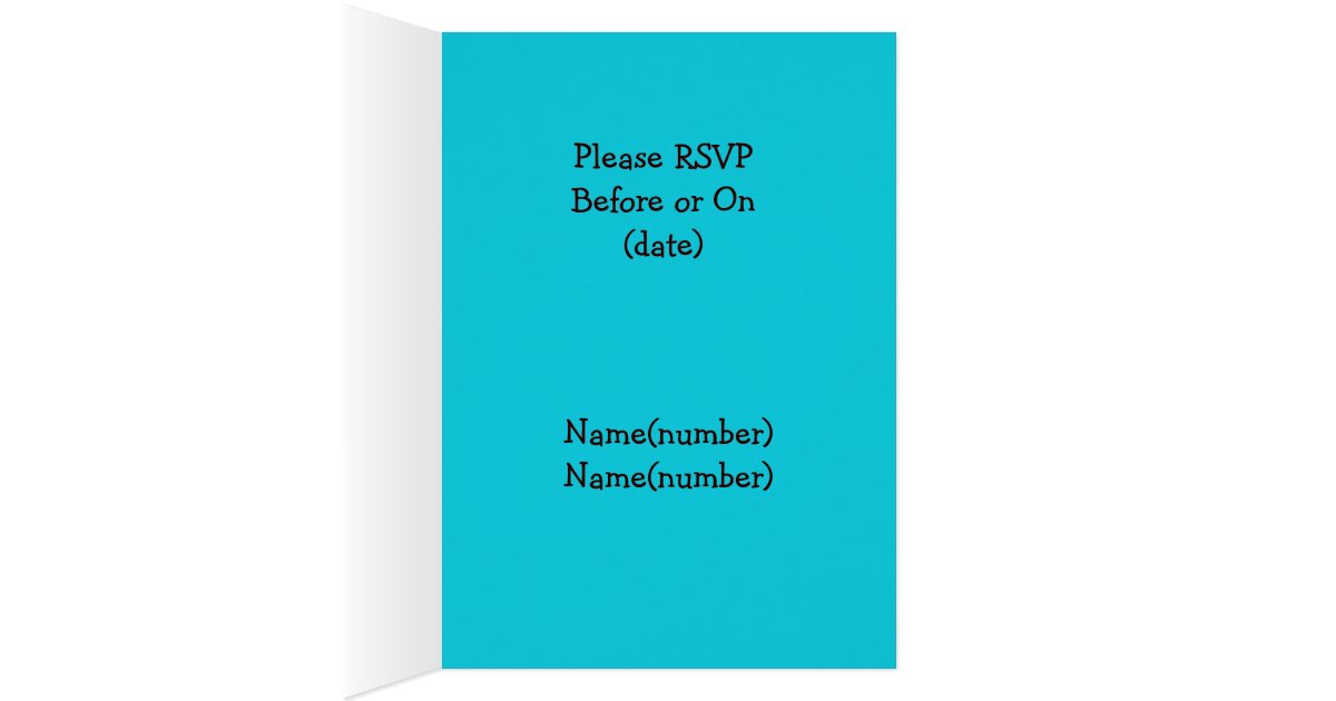 Turquoise And Brown Wedding Invitations: Brown Zebra, Turquoise Wedding Invitation