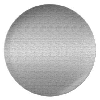 Brushed Metal Plates Zazzle