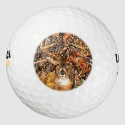 Buck in Fall Camo White Tail Deer Pack Of Golf Balls | Zazzle