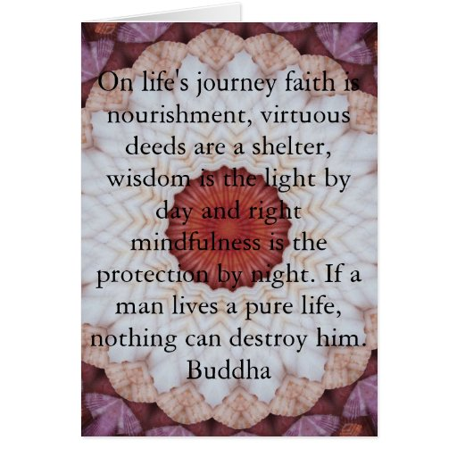 Inspirational Quotes About Life S Journey: Buddha Inspirational QUOTE Life's Journey Faith Card