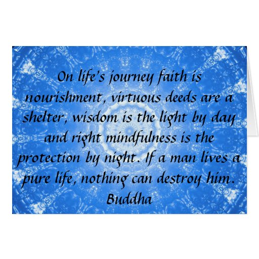 Quotes About Life Journey: Buddha Inspirational QUOTE Life's Journey Faith Card