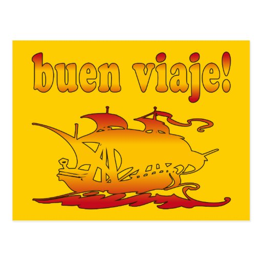 Buen Viaje Good Trip in Spanish Vacations Travel Postcard ...