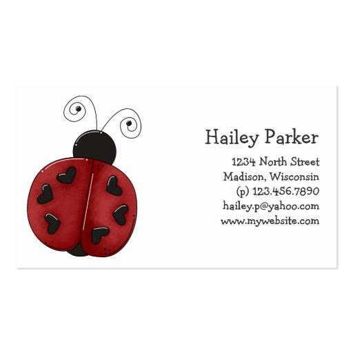 Buggin You Again Ladybug Business Card Template