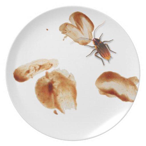 Bugzeez_Icky Sticky Roaches_Dirty Dishes Melamine Plate ...