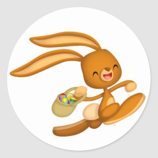 Bunny Easter on the Loose!! cartoon sticker sticker