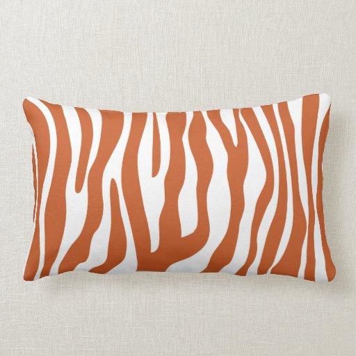 What Color Compliments Burnt Orange: Burnt Orange Animal Print Pattern Pillows