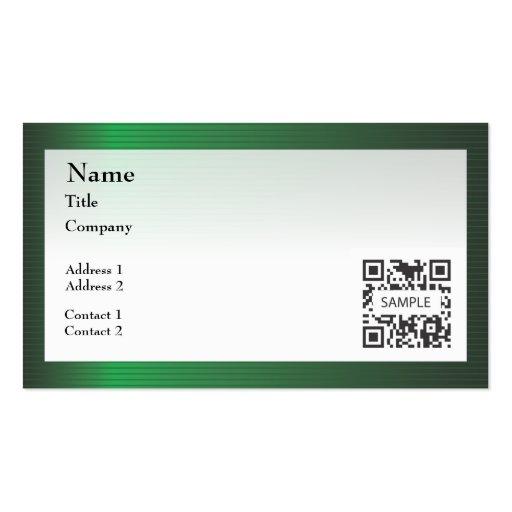 business card template green stripe border  zazzle