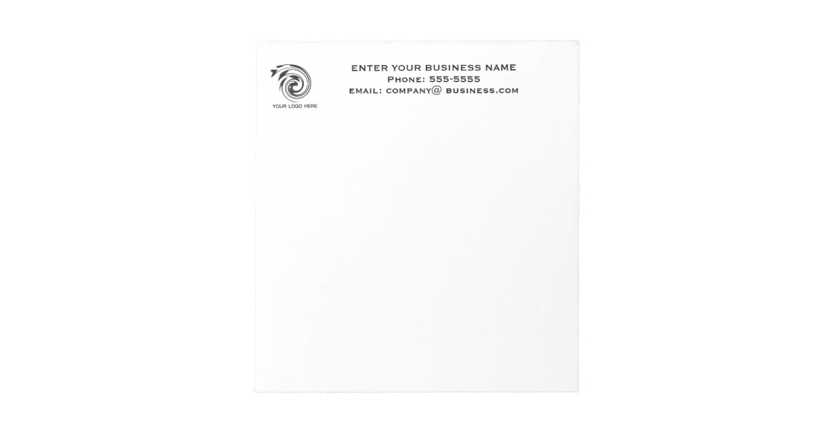 Business notepad with Logo | Zazzle